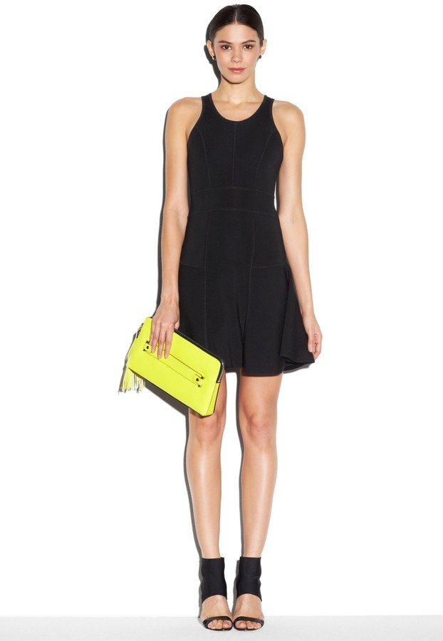Milly Fit And Flare Stretch Dress