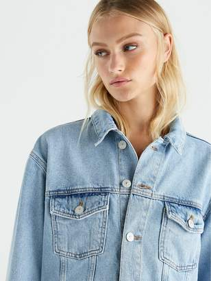 53f7935e6c Womens Light Wash Denim Shirt - ShopStyle UK