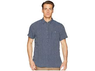 Todd Snyder Short Sleeve Popover Stripe Shirt Men's Short Sleeve Knit