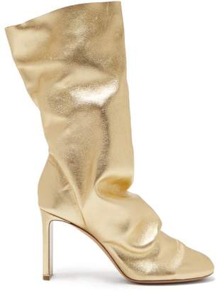 Nicholas Kirkwood D'arcy Metallic Leather Boots - Womens - Gold
