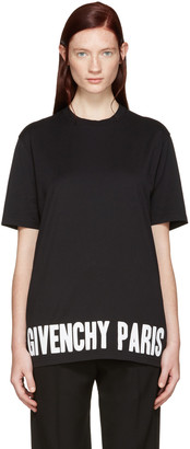 Givenchy Black Logo T-Shirt $530 thestylecure.com