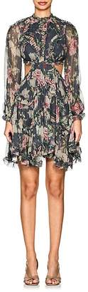 Zimmermann Women's Iris Floral Silk Open-Back Dress