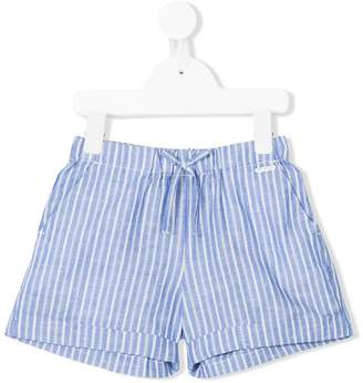 Woolrich Kids striped drawstring shorts