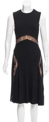 Jason Wu Sleeveless Lace-Trimmed Dress