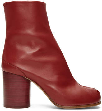 Maison Margiela Red Leather Tabi Boots