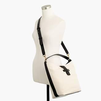 J.Crew Signet hobo bag in Italian leather & canvas