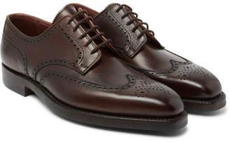 George Cleverley Henry Pebble-Grain Leather Wingtip Brogues