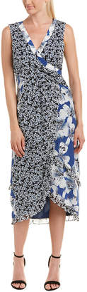 Nicole Miller Nicole Miler Silk Midi Dress