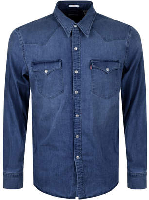 Levi's Levis Barstow Western Denim Shirt Blue