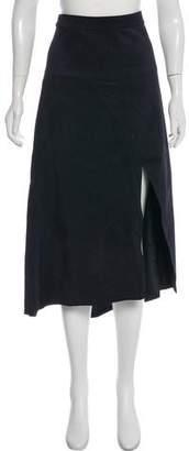 Raey Suede Midi Skirt