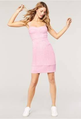 Milly Cotton Tweed Bustier Mini Dress