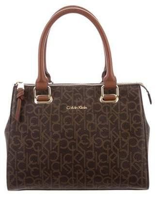 Calvin Klein Coated Canvas Satchel Bag