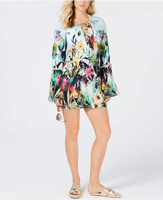 Nanette Lepore Nanette by Bloomin' Botanical Printed Tunic Cover-Up