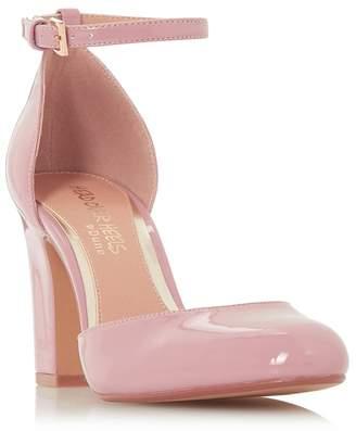Head Over Heels by Dune - Mid Rose 'Calipso' High Block Heel Court Shoes