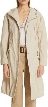 Brunello Cucinelli Cotton & Nylon Hooded Anorak