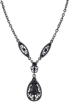 1928 Filigree Teardrop Y Necklace