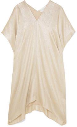 Marie France Van Damme - Midi Boubou Metallic Jacquard Dress - Gold