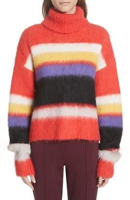 Diane von Furstenberg Chucky Stripe Turtleneck Sweater