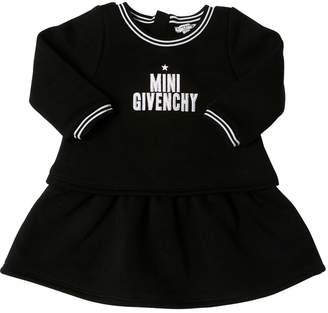 Givenchy Logo Embroidered Cotton Sweatshirt Dress