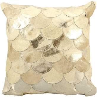Nourison Natural Leather Hide Metalic Balloons Decorative Pillow