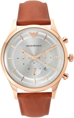 Emporio Armani AR11043 Rose Gold-Tone & Brown Watch