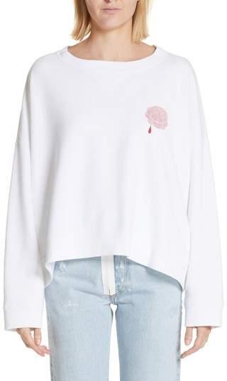Print Rose Sweatshirt