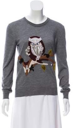 Dolce & Gabbana Cashmere Owl-Appliqué Sweater