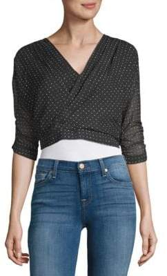 Lucca Couture Dotted Crop Top