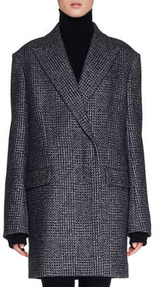 The Row Mewey Wrap Fleece Wool-Blend Coat
