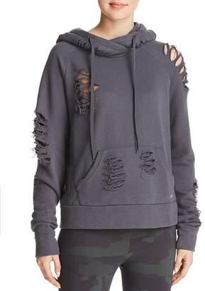 Alo Yoga Distressed Hooded Sweatshirt