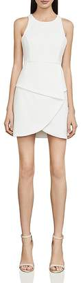 BCBGMAXAZRIA Cutout Crepe Mini Dress