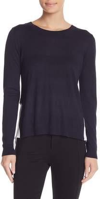Susina Pleated Mixed Media Sweater