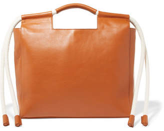 HEREU - Botiga Rope-trimmed Leather Tote - Tan