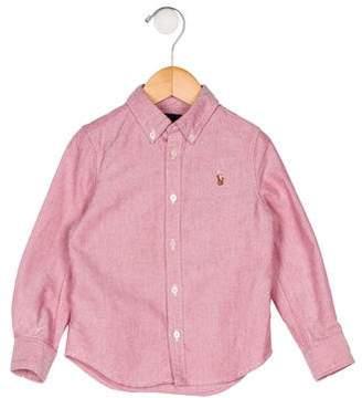 Ralph Lauren Boys' Collar Button-Up Shirt