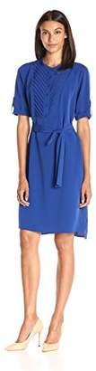 Lark & Ro Women's Elbow Sleeve Shirt Dress