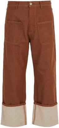 Loewe Patch pocket turn-up jeans