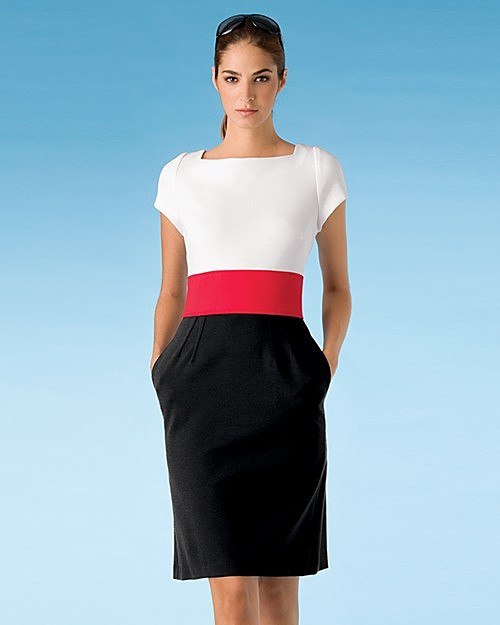 Chetta B. Sherrie Bloom and Peter Noviello Colorblock Dress