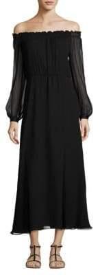 Elizabeth and James Nadia Off-The-Shoulder Silk Dress