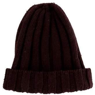 Maison Margiela Rib Knit Wool Beanie