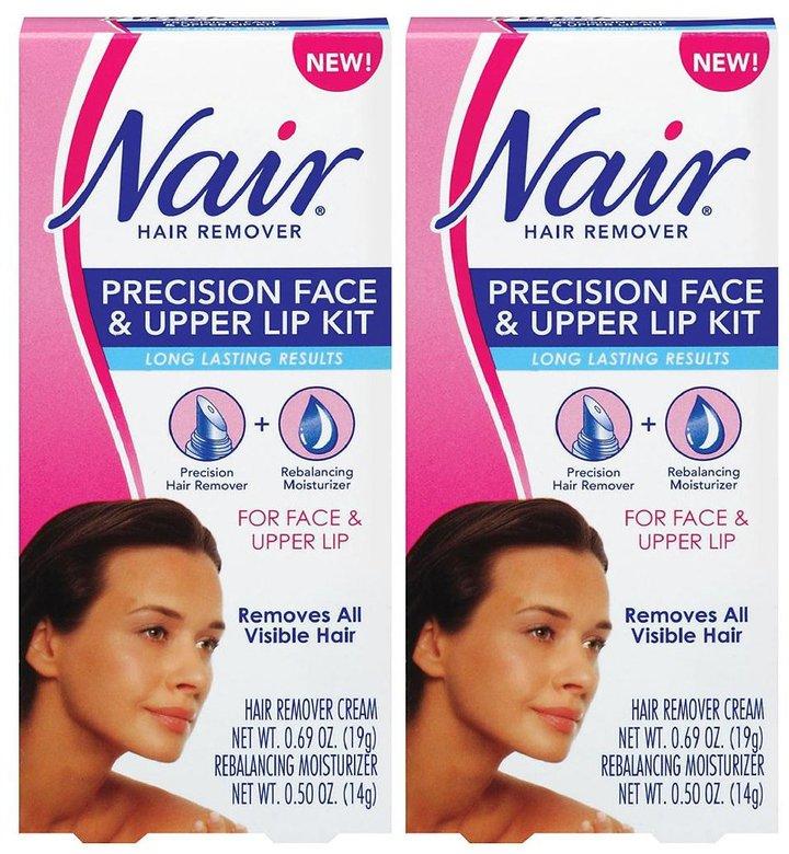 Nair Precision Face & Upper Lip Hair Remover Kit - 0.69 oz - 2 pk