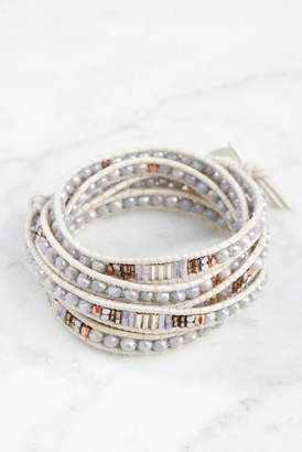 Nakamol South Moon Under Silver Beaded Wrap Bracelet