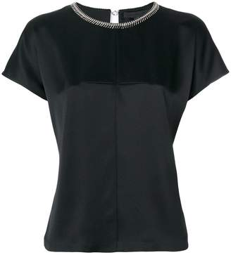 Alexander Wang chain trim collar blouse