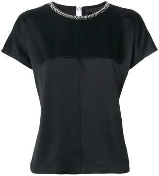 Alexander Wang chain trim collar blouse