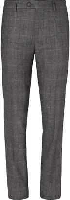 Brunello Cucinelli Grey Prince of Wales Checked Virgin Wool and Silk-Blend Suit Trousers