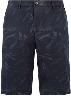 BOSS Tonal Leaf Print Shorts