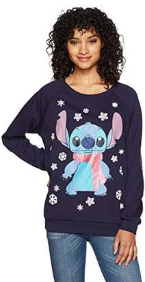Disney Women's Light Up Stitch Christmas Sweater