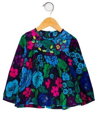 Catimini Girls' Embroidered Floral Top