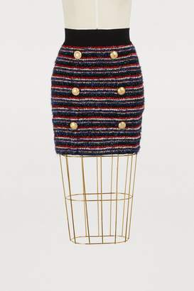 Balmain Lurex mini skirt