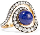 Noor Fares Planet Spiral 18K 黄金、钻石、青金石戒指