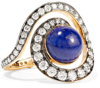 Lapis Noor Fares Planet Spiral 18-karat Gold, Diamond And Lazuli Ring